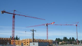 Seattle tower cranes, courtesy of craneblogger.com