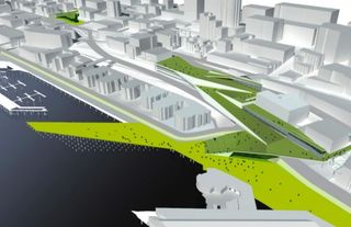 seattle central waterfront tidelines and folds, courtesy of land8.net